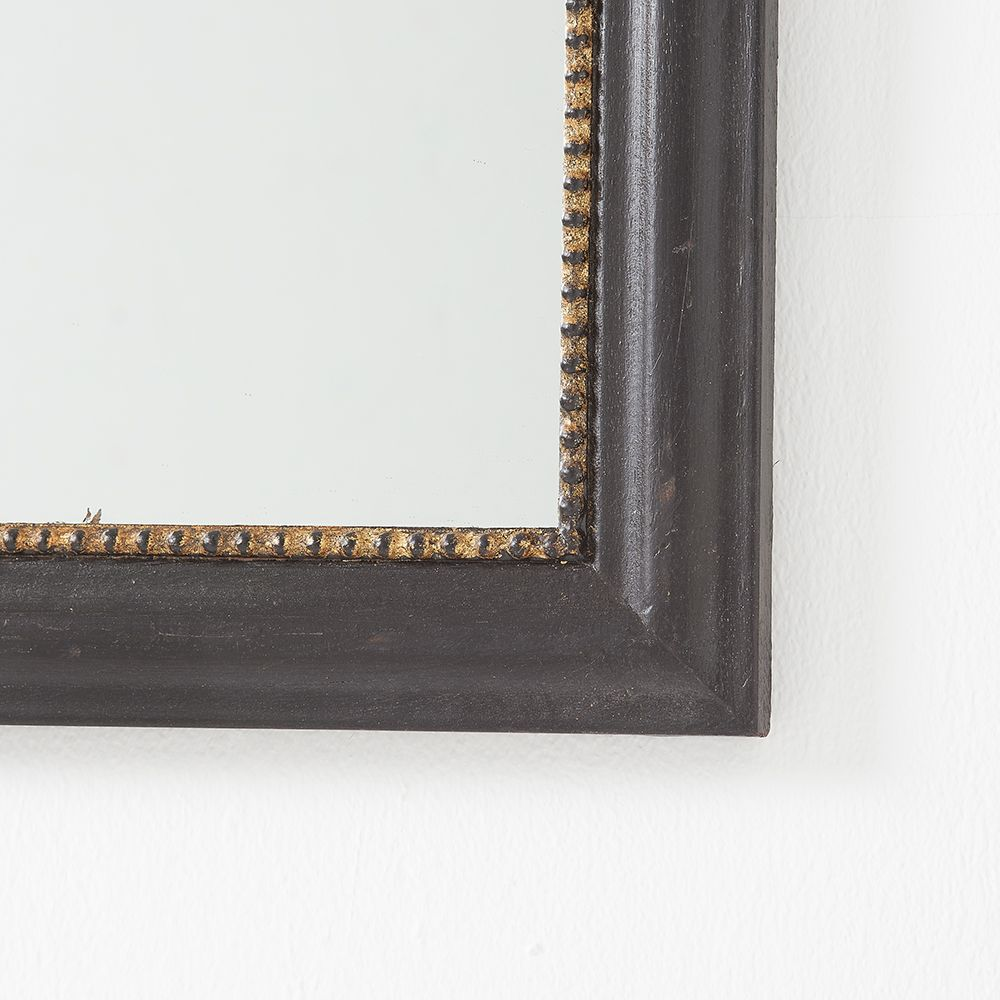 Black And Gold Wood Framed Mirror